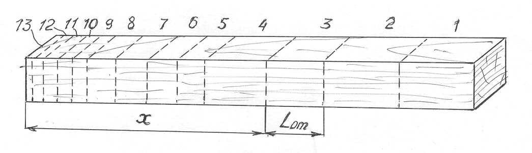 Рис. 1. Схема раскроя