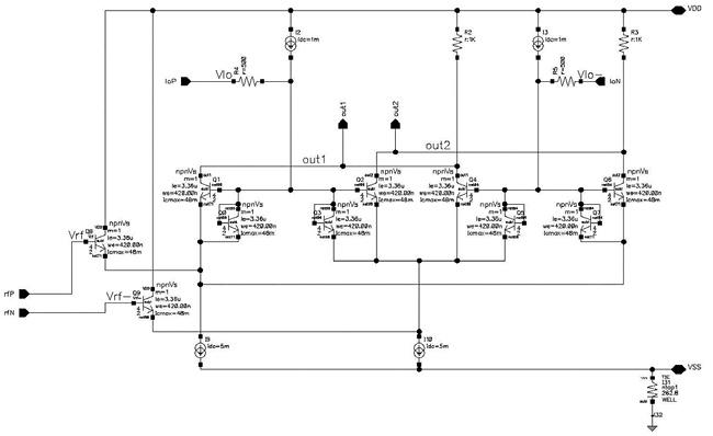 Схема SiGe смесителя на основе